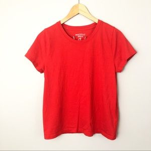 J. Crew | Medium | broken-in crewneck Tee Red